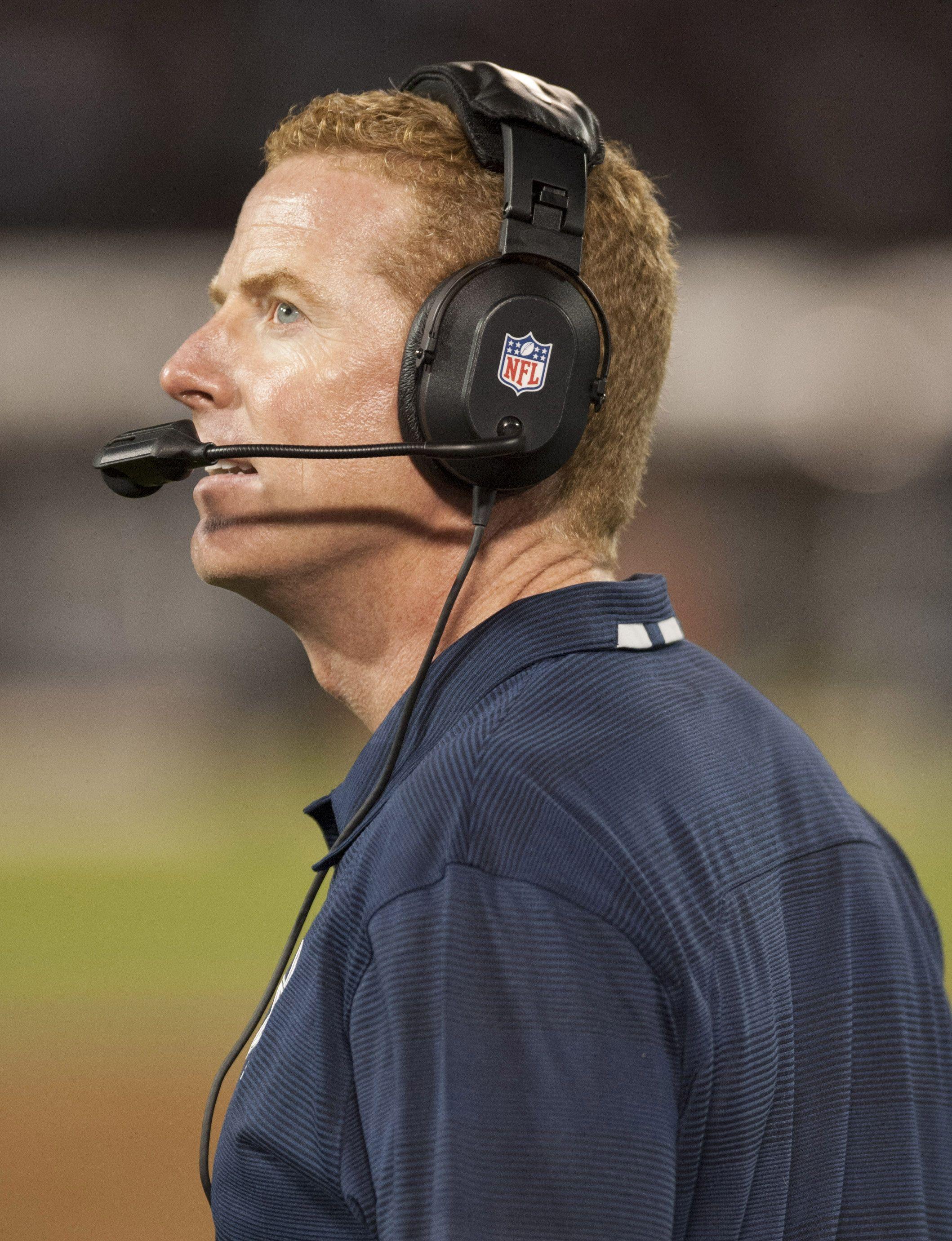 Dallas Cowboys head coach Jason Garrett looks on during