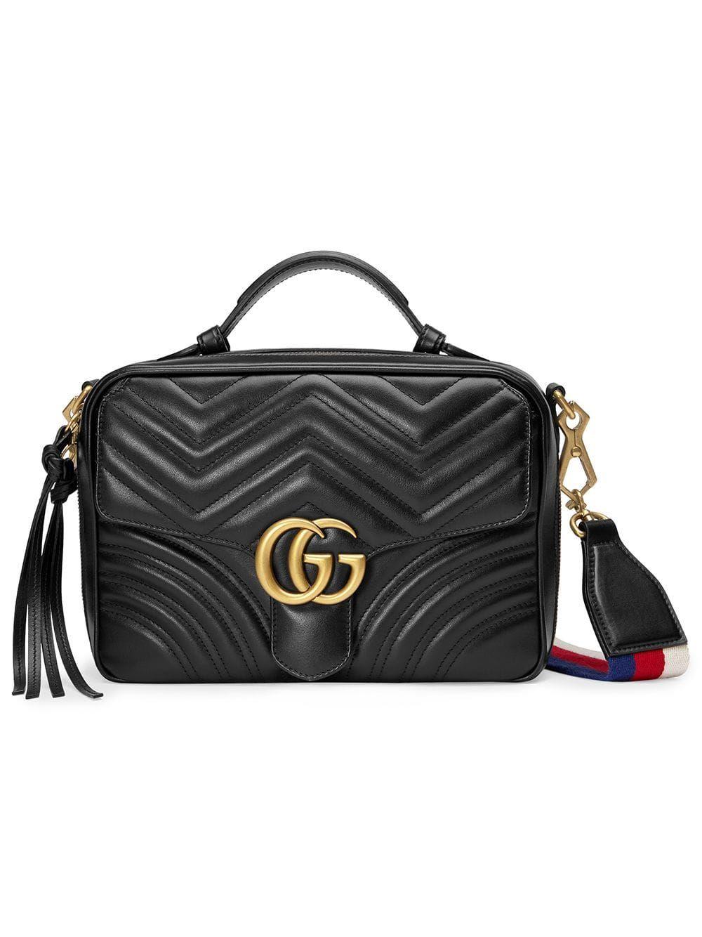 Bolso de hombro Gucci GG Marmont matelassé - Negro... #bolso #Gucci #hombro #Marmont #matelassé