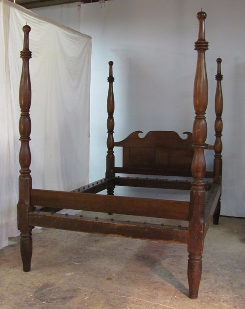 Antique Sheraton Four Poster Bed