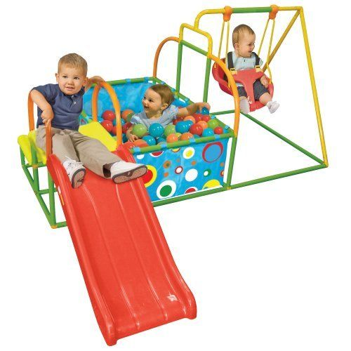 Toddler Swing Set Slide Ball Pit Activity Gym By One Step Ahead