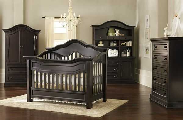 Decor Millbury Crib by Baby Appleseed Gold baby nursery