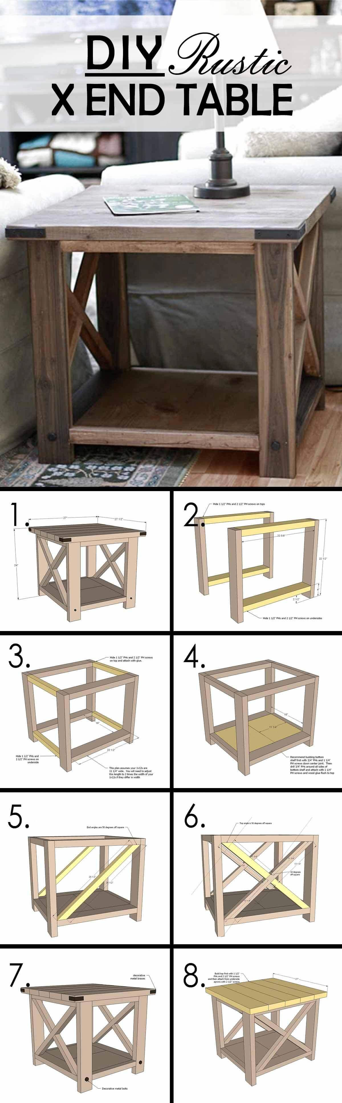 Build Your Own Rustic Cube End Tables Africanfurniture