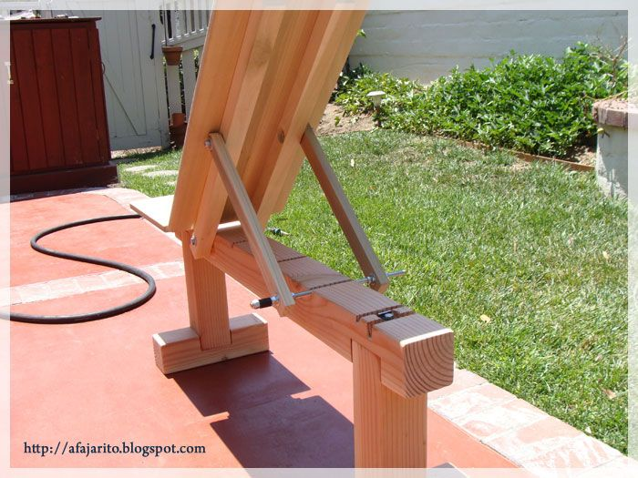 build a backyard gym weight bench 5 positionflatincline doubles as patio bench