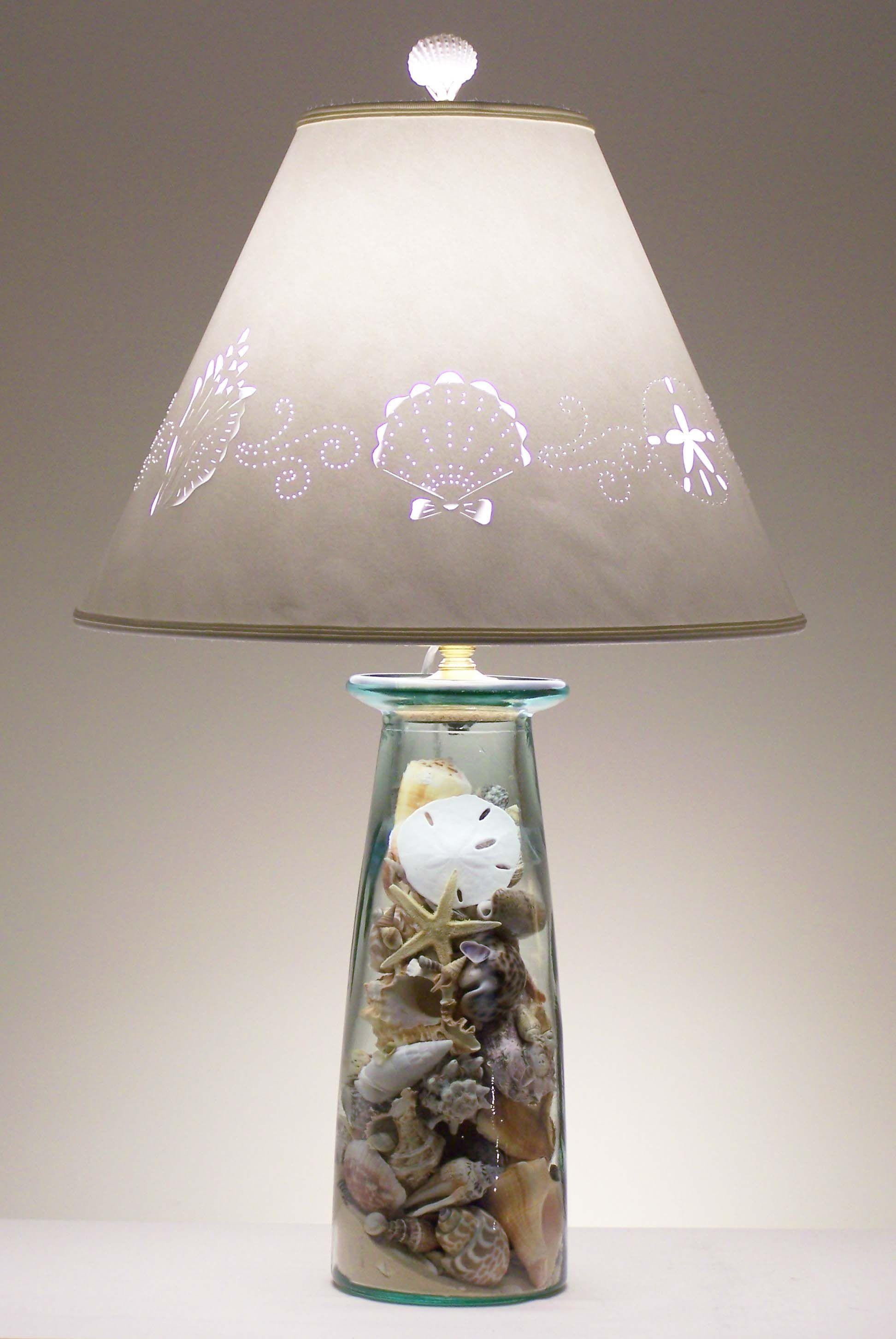 Space Themed Lamp How To Make A Seashell Lamp With A Rustic Shade Not