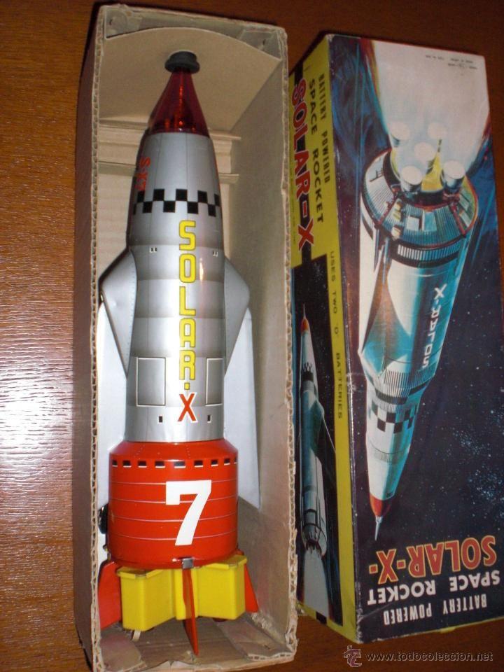 ANTIGUO COHETE ESPACIO SPACE SOLAR-X Space Rocket T.N NOMURA MADE IN JAPAN ORIGINAL 60 FUNCIONA