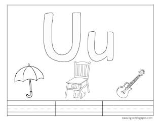 أوراق عمل حرف U U مع كلمات تبدأ بحرف U Alphabet Pictures Printable Letters Lettering