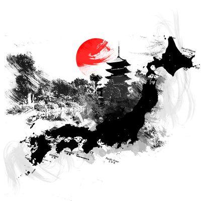 Abstract Kyoto Japan Art Print Samurai Art Japanese Drawings
