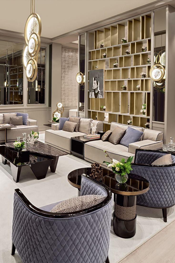 Modern Italian Designer Modular Sofa With Integrated Table | LIVING ...