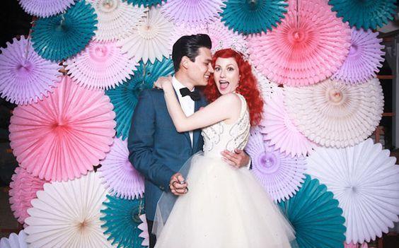 бумажные веера для свадьбы своими руками: