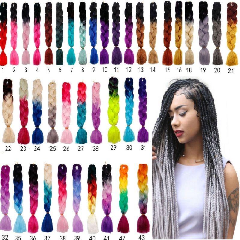 24 Kanekalon Ombre Synthetic Jumbo Braiding Hair