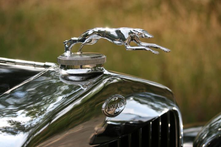 Hood Ornament On Our 1933 Lincoln Town Car Automobile Details