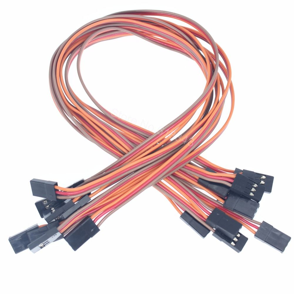 Click To Buy 100pcs Lot 22awg 3 Pins 300mm Servo Extension Lead Wire Cable Male To Male 60 Cores For Futaba Jr P Remote Control Toys Extension Lead Plugs