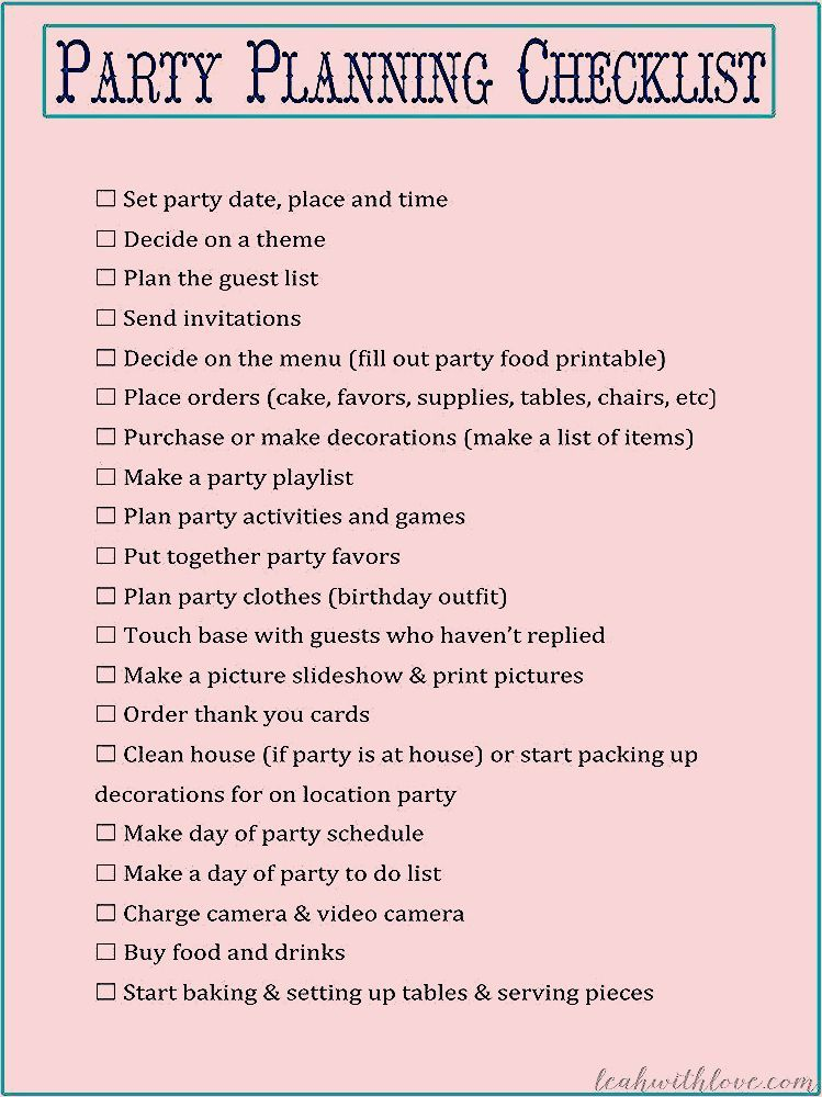 Photo of {Free} Party Planning Printables – Leah With Love