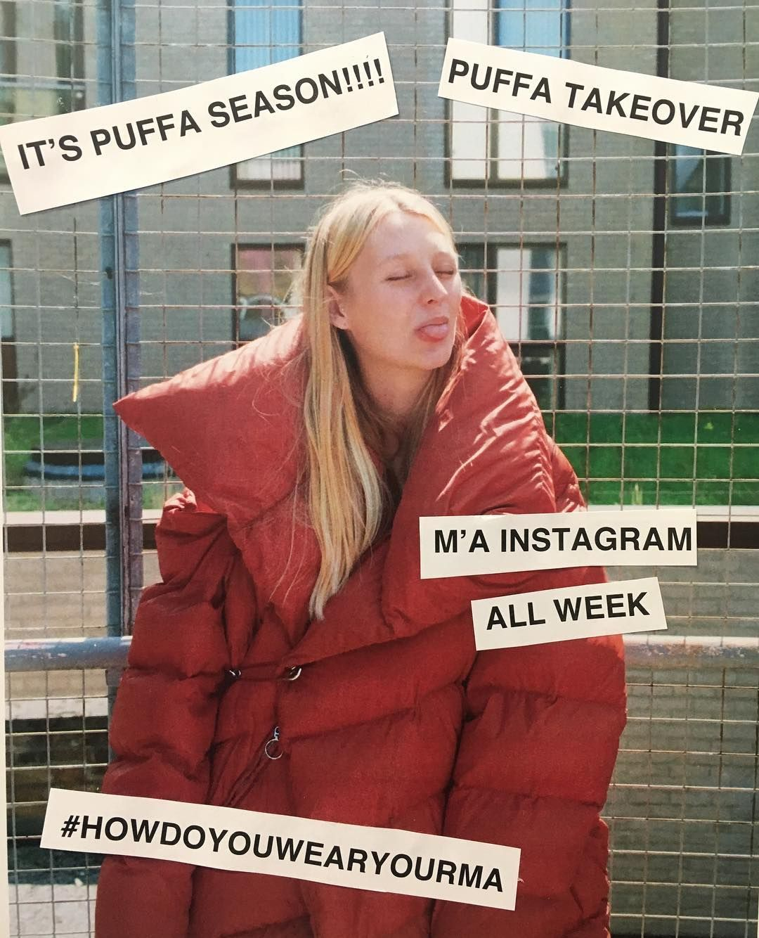 This week it's puffa week at M'A!!! Look out for us celebrating our favourite snuggly winter coat all week long!  We'd really love to see you in your #marquesalmeida puffas too, we'll be sharing our favourites all through the week so please hashtag with #howdoyouwearyourma so we can see you :) #winter2017