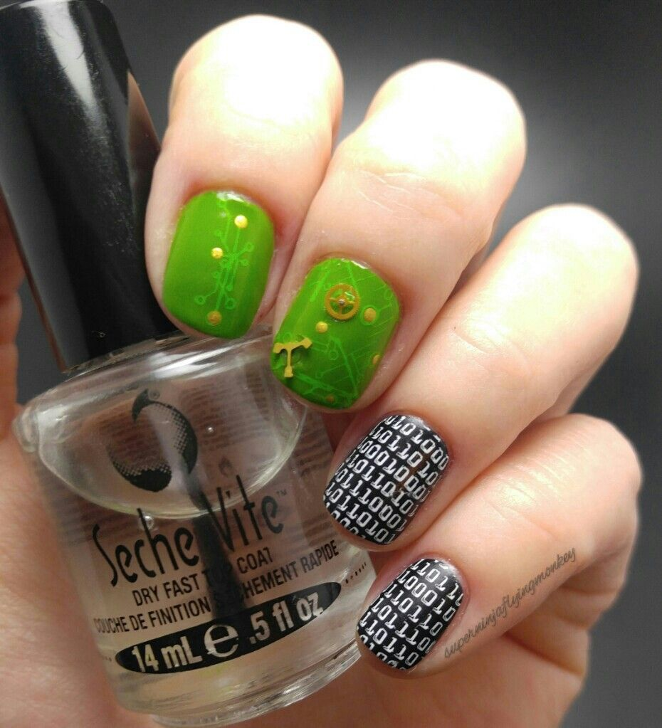 Programmer IT Geek nails | Nails For Nerds | Pinterest