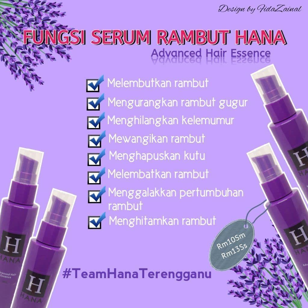 Hana Hair Serum RM 10 50ml membantu merawat ___ rambut