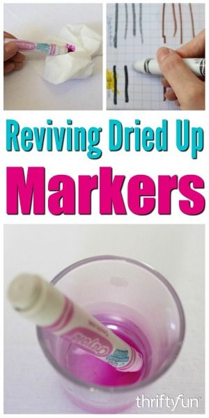 Reviving Dried Up Markers Felt Tip Markers Coloring Markers Marker Crafts