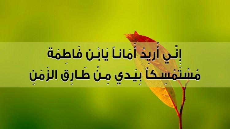 اني اريد امانا يابن فاطمة مستمسكا بيدي من طارق الزمن Islamic Pictures Arabic Art Inspirational Quotes