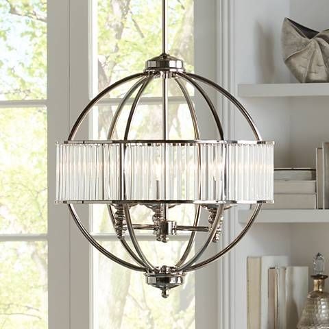 Possini Euro Florien 18 14 Wide Polished Nickel Chandelier