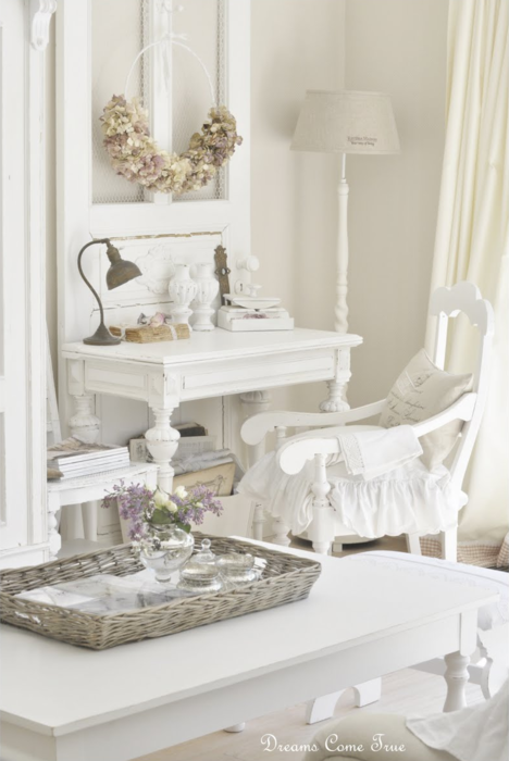 vintage shabby chic inspired office cirpa shabby chic office love the door behind desk place to inspire