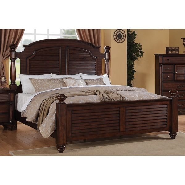 Duval 5-piece Distressed Mahogany Bedroom Set | Overstock.com ...