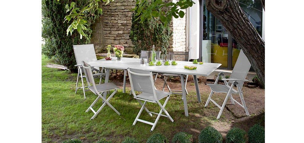 Table de jardin extensible 240 cm Tampa blanche : achetez nos tables ...