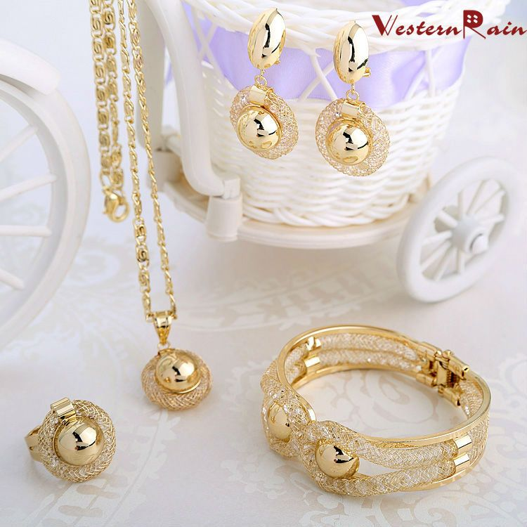 Find More Jewelry Sets Information About WesternRain Charming Lady Gold Plated Elegant Fashion Bridal Wedding