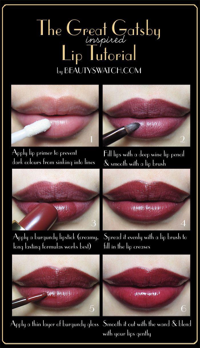 The great gatsby lip tutorial makeup beauty lipstick diy easy diy the great gatsby lip tutorial makeup beauty lipstick diy easy diy how to diy fashion diy baditri Gallery