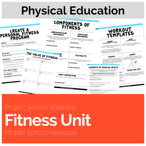 Fitness Unit This No Prep Unit Was Designed For Middle School Pe And Health Teachers Teach Students How To Build Physical Health Through Fitness