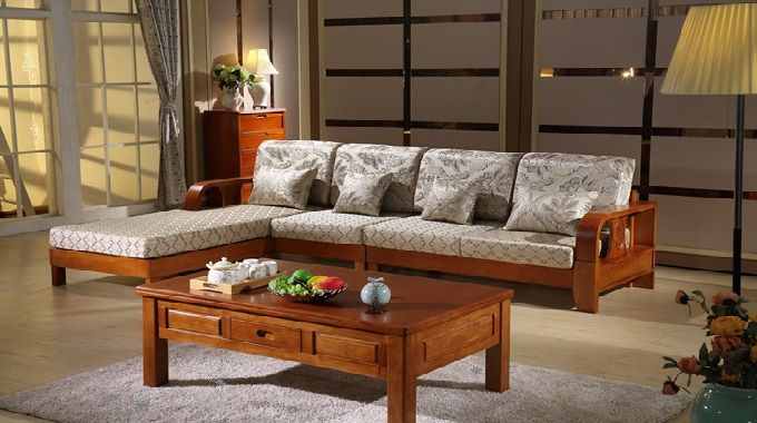Wooden Corner Sofa Set | salas in 2019 | Wooden sofa, Wooden ...