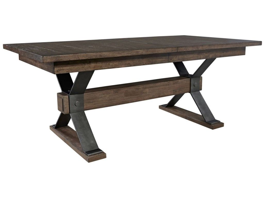 Sonoma Road Contemporary Rectangular Trestle Table by Freedom Furniture at Ruby Gordon Home
