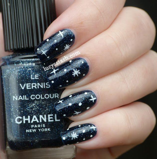 Nail Art Night: Chanel Night Sky, Nail Art Stars Underneath The Stars