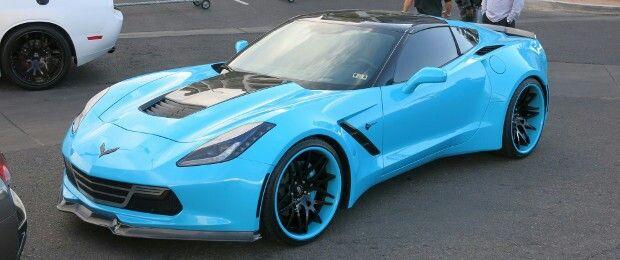 C7 Corvette Wide Body Electric Blue