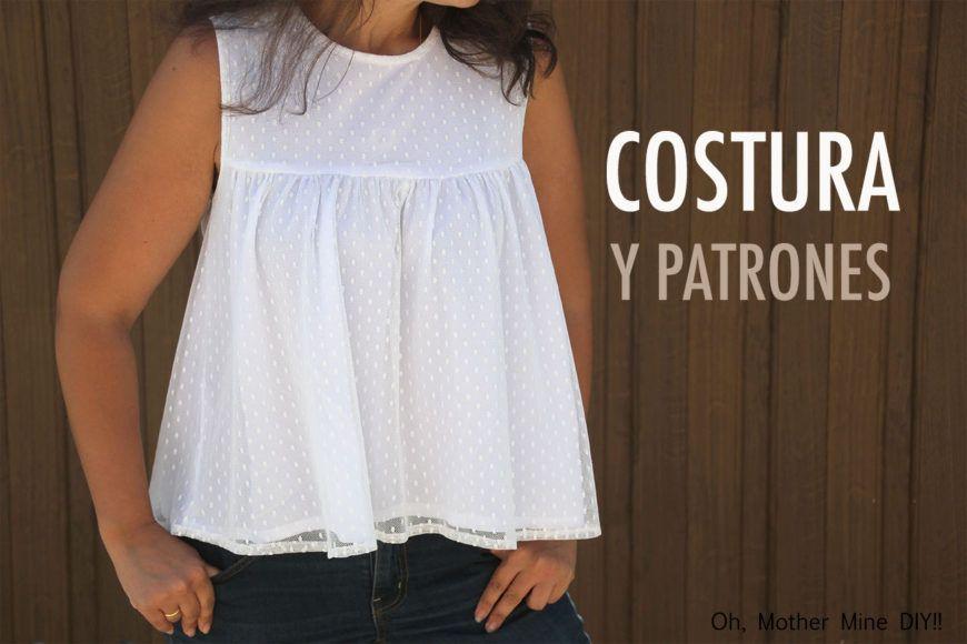 DIY Costura: Como hacer Blusa Plumeti (patrones gratis) | patrones ...