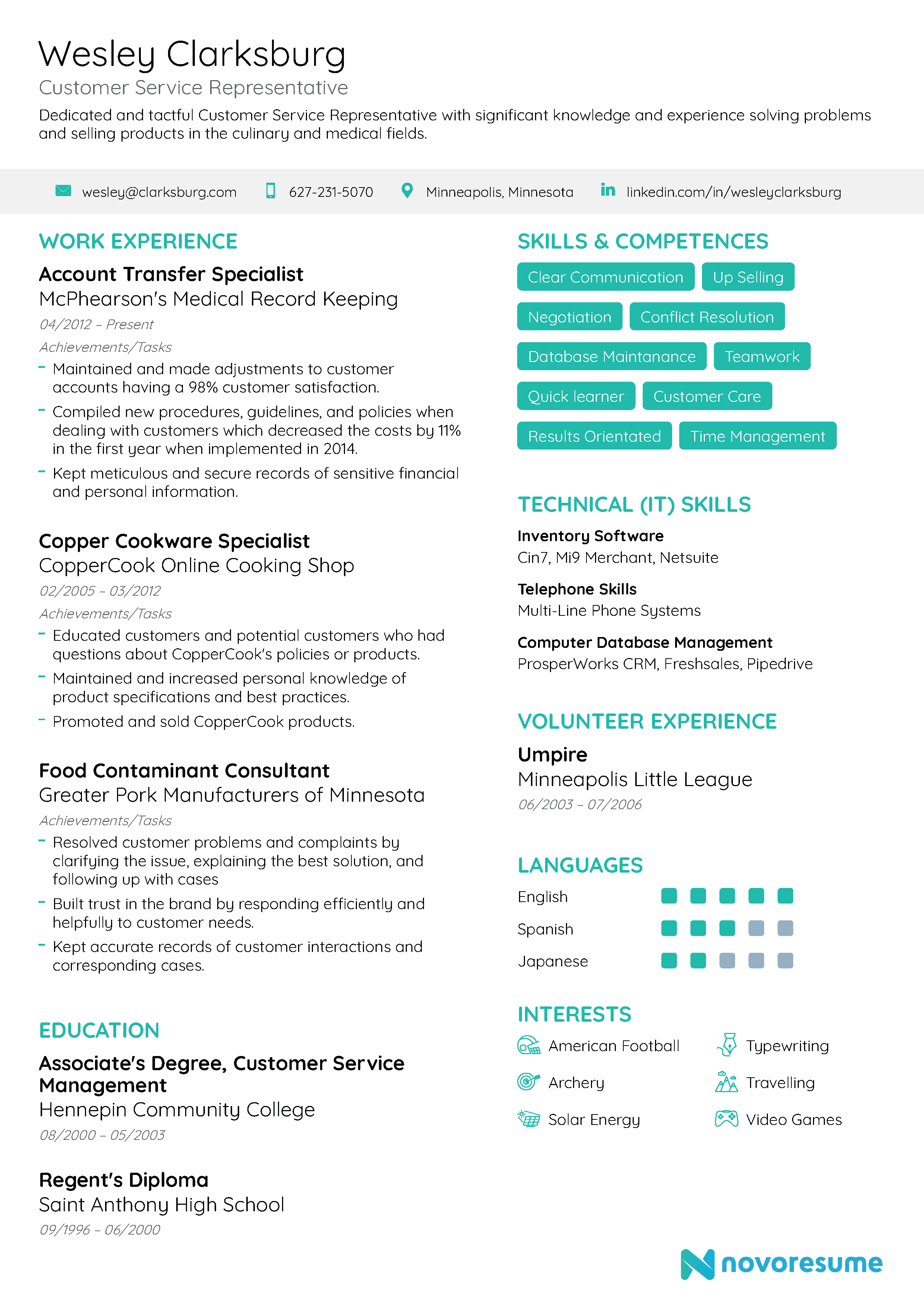 Customer Service Resume [2020] Examples & Guide