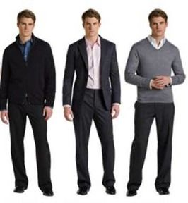 A two piece suit or a sweater are great for corporate ...