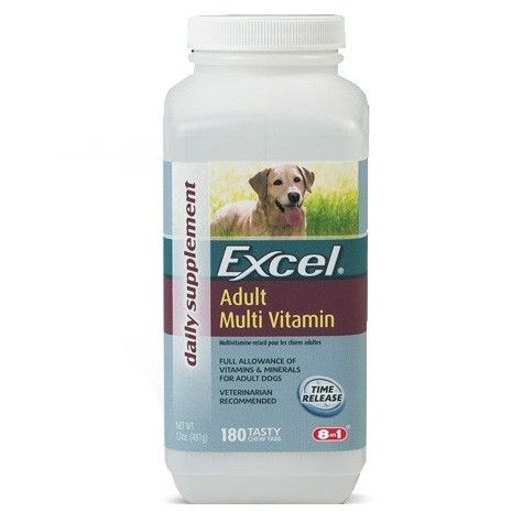 Tasty Chewable Tablets Provide The Optimum Balance Of Vitamins And Minerals Essential For Active Adult Dogs Dog Vitamins Vitamins Online Pet Supplies
