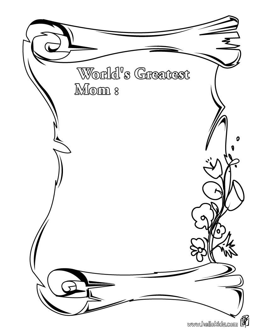 Greatest Mom Coloring Page Source J0g 820×1060 Coloring