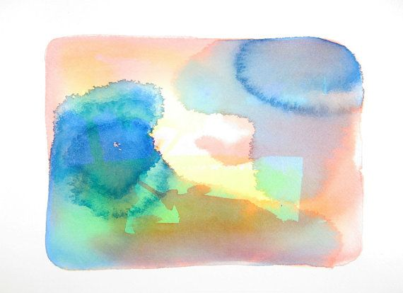 Original Abstract Watercolour Painting  by ArtistLydiaMakepeace, $70.00