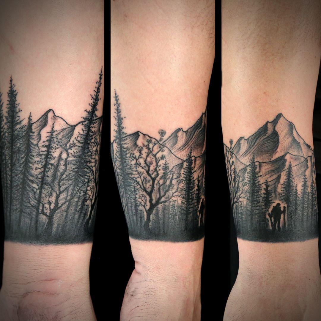 Austin Watercolor Tattoo: Wristband Tattoo By Austin Rose