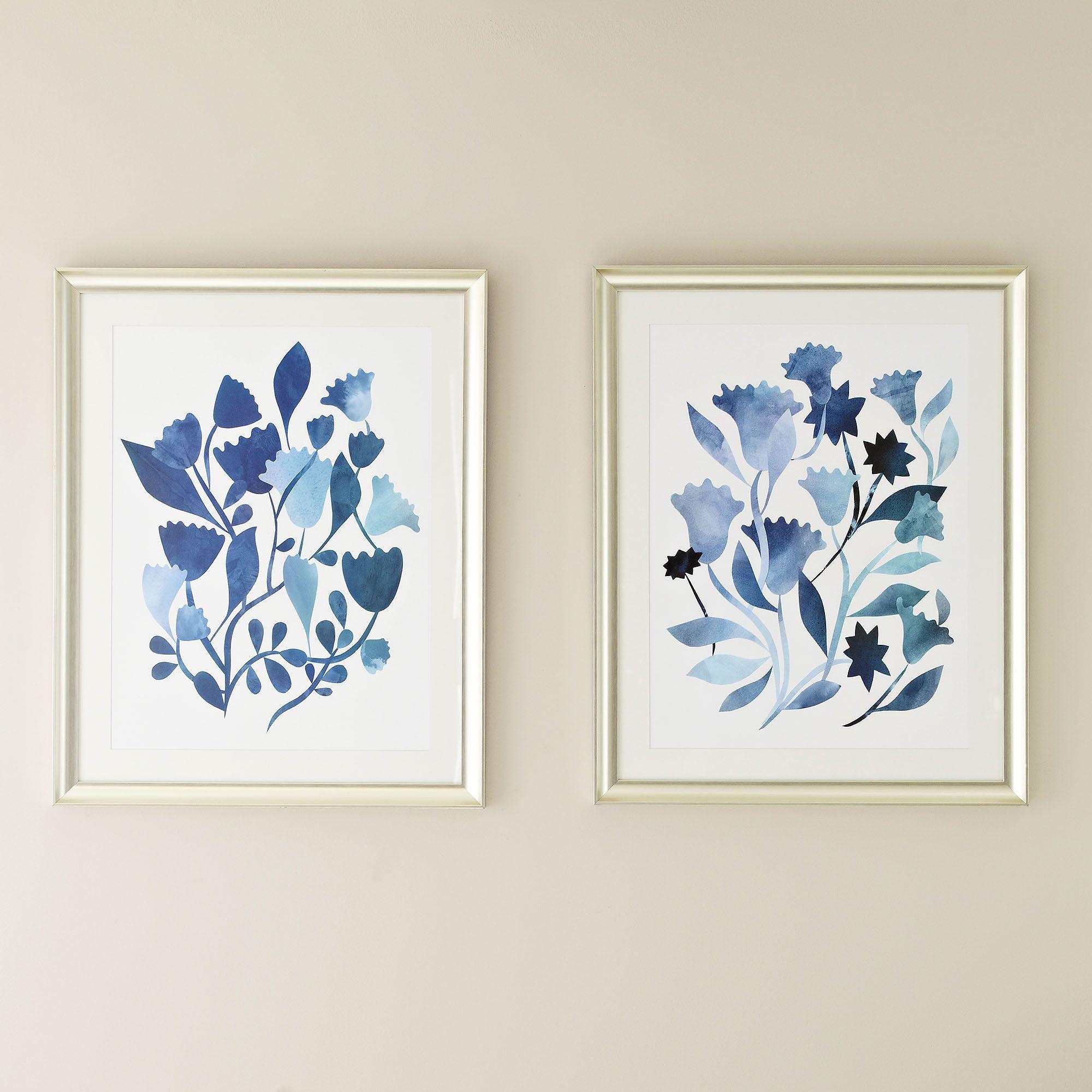 Birch Lane Watercolor Flowers Framed Print Collection | Birch Lane ...