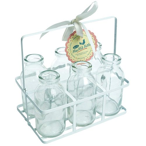 Party Arks 'School Milk Bottles in Crate'. Perfect for parties with a retro feel.