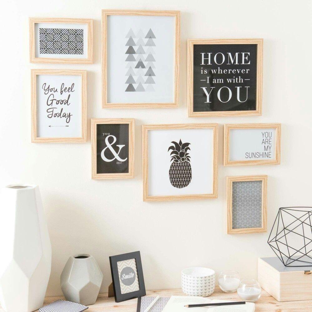 cadre maisons du monde on the wall cadre maison du monde deco et deco scandinave. Black Bedroom Furniture Sets. Home Design Ideas