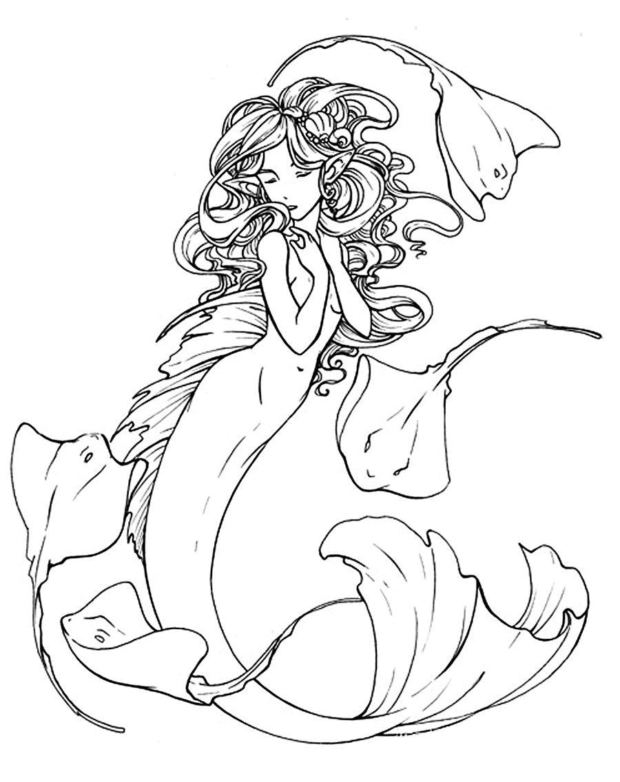 Mermaid by depplosion on DeviantArt |Mermaid Line Drawing