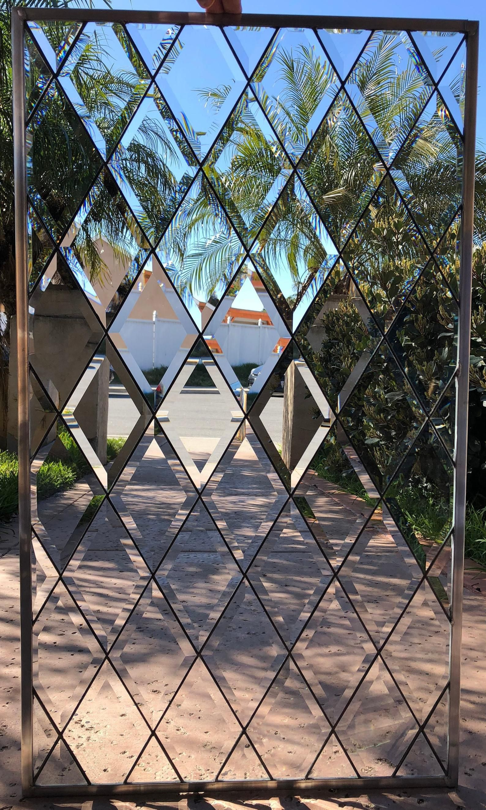 Classic Beveled Stained Glass Windows Diamonds Tudor Style Etsy In 2020 Leaded Glass Door Glass Design Leaded Glass Windows
