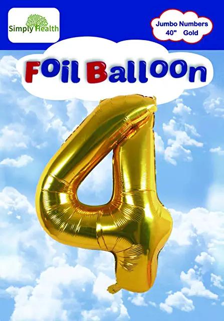Amazon Com Gold 4 Balloon Balloons Gold Foil Balloons Simply Health