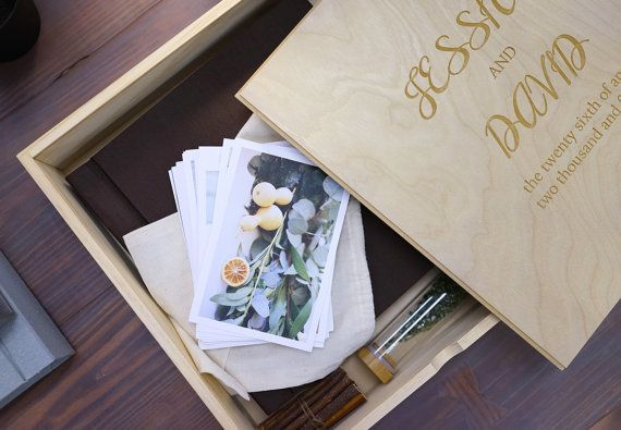10x10 Wooden Photo Album Box Wedding Album Personalized Wooden Box Personalised Wooden Box Wedding Album Photo Album