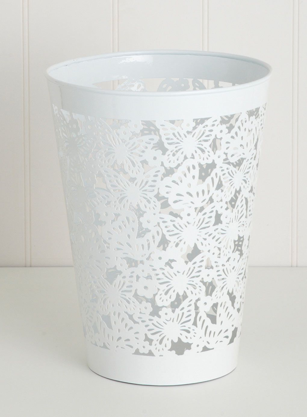 White Bathroom Bin white butterfly bin - bhs | white room | pinterest | bhs, white