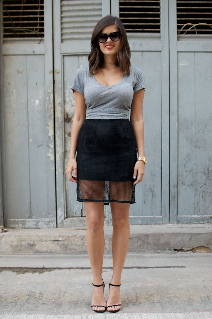 17 Best images about T-Shirt & A Pencil Skirt (new work uni) on ...