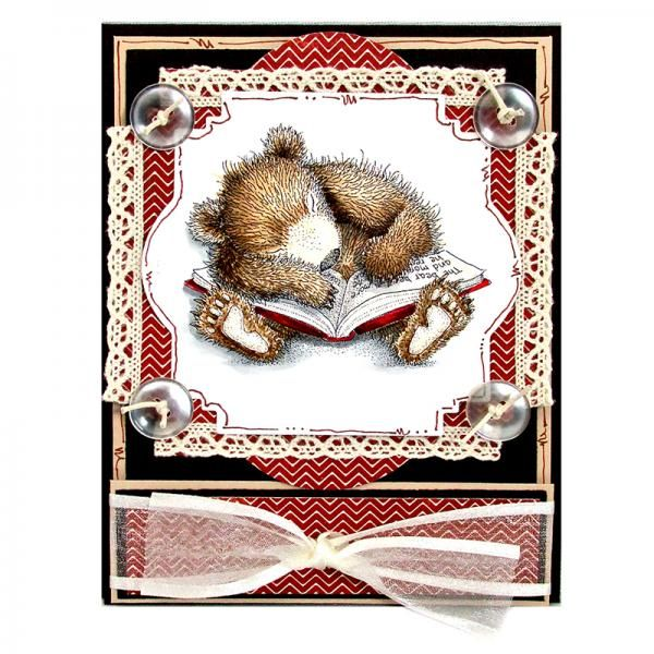 Gruffies® Sleepy Reader by Rhea Weigand by StampendousGraphic - Cards and Paper Crafts at Splitcoaststampers